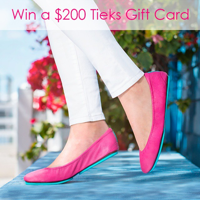 Win a $200 Tieks gift card! To enter: ⭐Follow @tieks ?Follow @AprilAthena7 ⭐Like this photo please ?I'll tag the lucky winner Wednesday May 27, 2015 at 9pm PST ⭐Please do not repost.  Repost =disqualification ?Leave your positive quote to share down below!  Good luck!  Tieks are soo comfy!